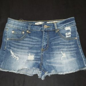 Jean Distressed Shorts